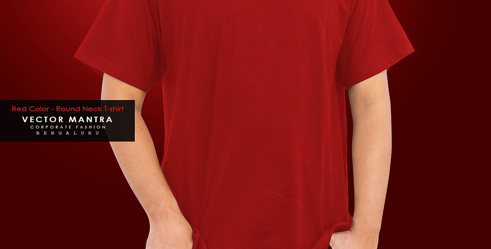 buy premium cotton t shirts in bulk, round neck t shirts for corporate events, t shirt printing near me, buy red tshirt india