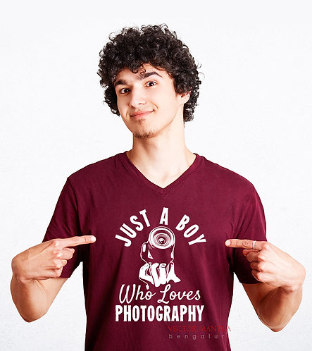 personalized photographer t-shirts online, cotton t shirt printing in India, choose t shirts for your profession, online tees