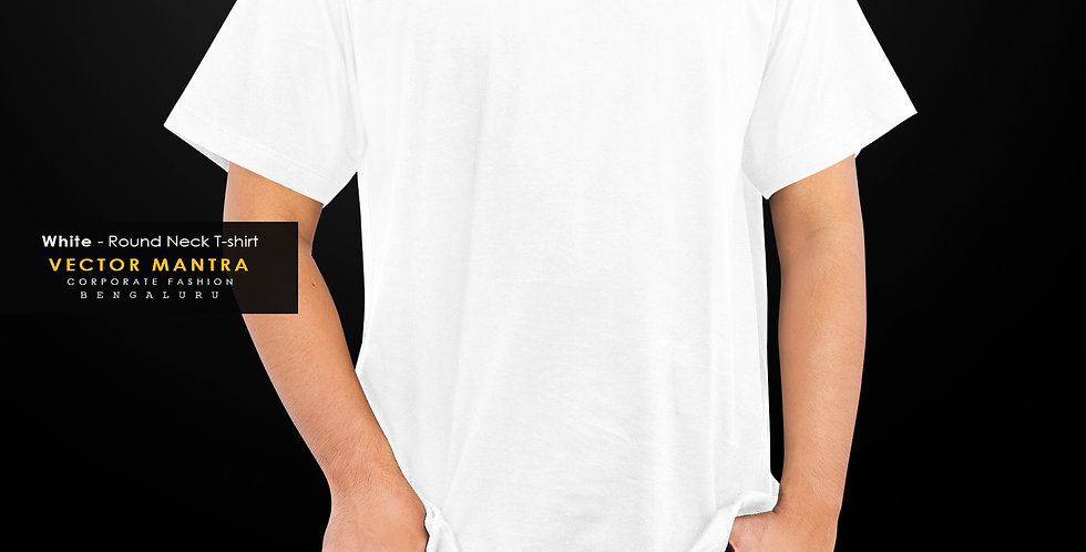 buy white round neck t sirts in india, personalized cotton round neck t shirts in bulk, custom t shirts for corporate events