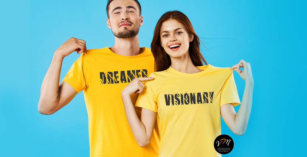 Couple T-shirt Designs| Custom T-shirt Printing in Bulk | Vector Mantra | India