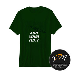 Bottle green T-shirt printing- India