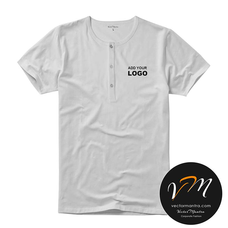 Henley t-shirt printing