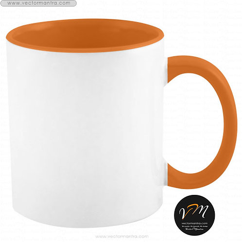 personalised inside color coffee mugs online bangalore, personalized printing with dye-sublimation on inside color mugs india
