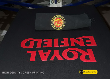 High density screen printing on cotton hoodies