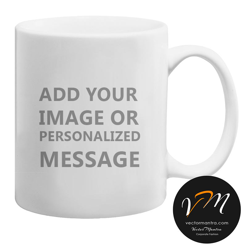 Custom plain white mug printing