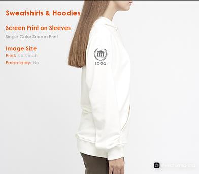 Logo Printing on sleeves Hoodies and Sweatshirts   Vector Mantra   India