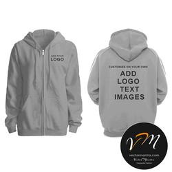 Custom Grey melange hoodie online