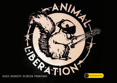 Animal liberation T-shirt design with custom screen printing   Vector Mantra   India