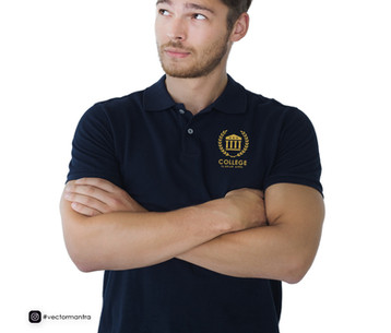 Custom Polo T-shirts for Schools and College - Logo Embroidery   Vector Mantra   India