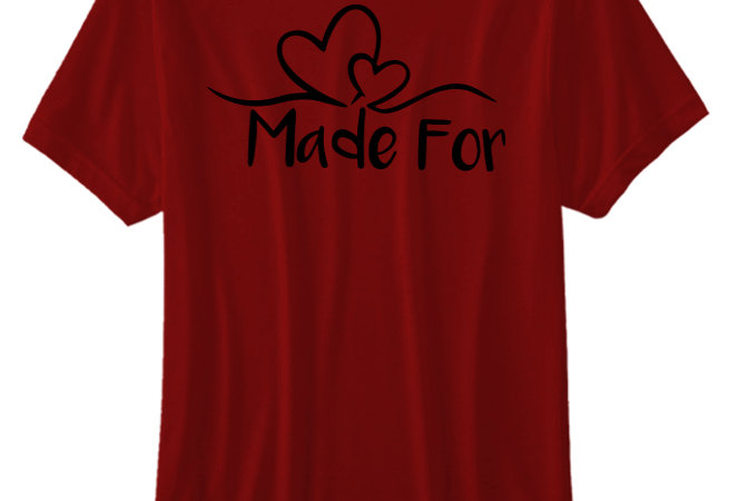 Made for Each Other T-shirts online in India, Couple T-shirts Vector Mantra, Customize Couple T-shirts online in India,
