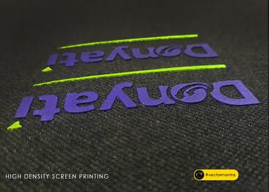 High density screen printed logo on cotton polo t-shirts   Vector Mantra   India