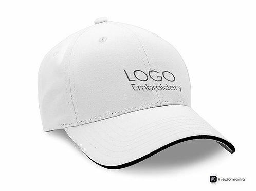 white cap with logo embroidery, customized cotton caps in india, premium cotton caps in bulk, cap manufacturer in bangalore,