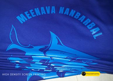 High Density screen printed royal blue t shirts in bulk   Vector Mantra   India