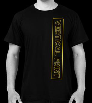Vertical Screen Print on T-shirt Front