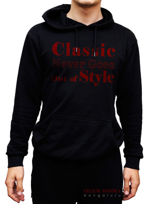 Hooded Sweatshirt with Quote
