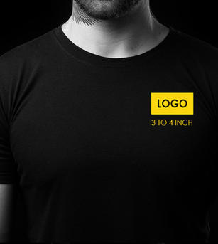 Front Chest Logo Print on T-shirt