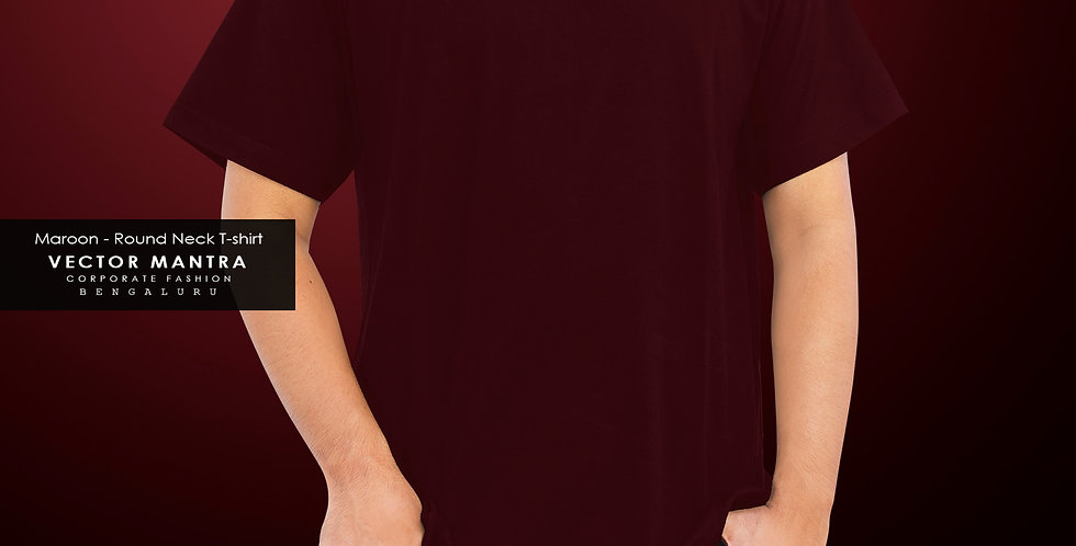 buy maroon t hsirt for group events online, custom maroon t shirts bangalore, premium cotton t shirts in bulk, college tshirt