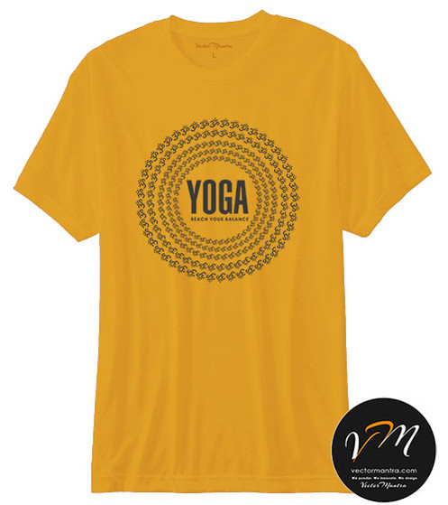 b102ae7d569c Yoga T-shirts - Custom T-shirt Printing Online | India | Vector Mantra