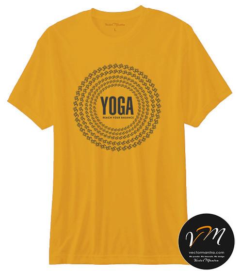 02125221b Yoga T-shirts - Custom T-shirt Printing Online | India | Vector Mantra