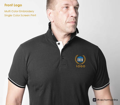 Left Chest Logo Embroidery and Screen Print   Vector Mantra   India