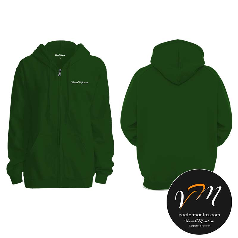 Customized bottle green hoodie