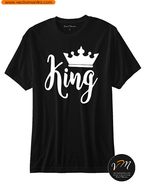King and Queen T-shirts Bangalore India, Personalized Couple T-shirts Vector Mantra India, Design Couple T-shirts in India,
