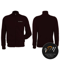 Customized High neck maroon hoodie