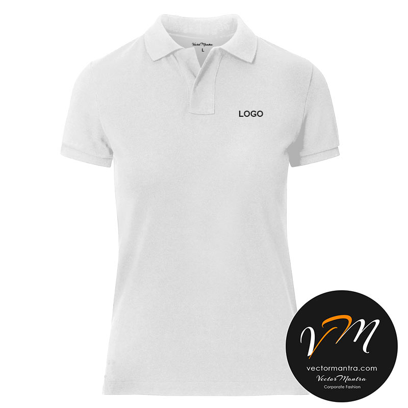 white polo t-shirts for women