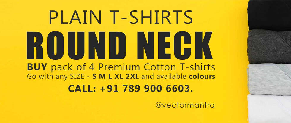Round Neck T-shirts | Custom T-shirts Online | Vector Mantra | India