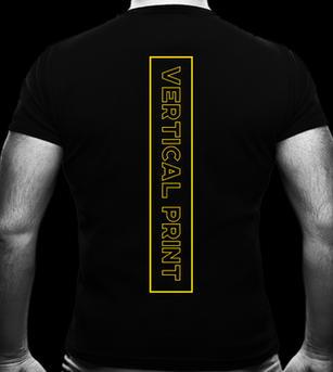 Vertical Screen Print on T-shirt Back
