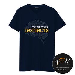 Trust your instincts Cotton t-shirt