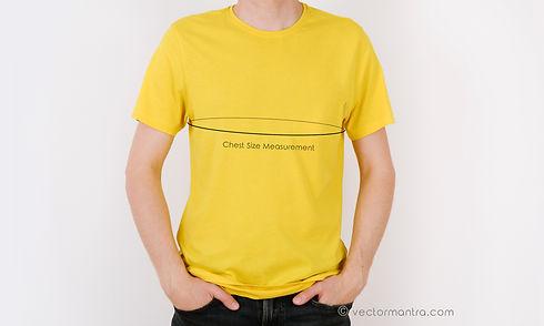 Round Neck Size Chart | Custom Unisex T-shirts in Bulk | Vector Mantra | India