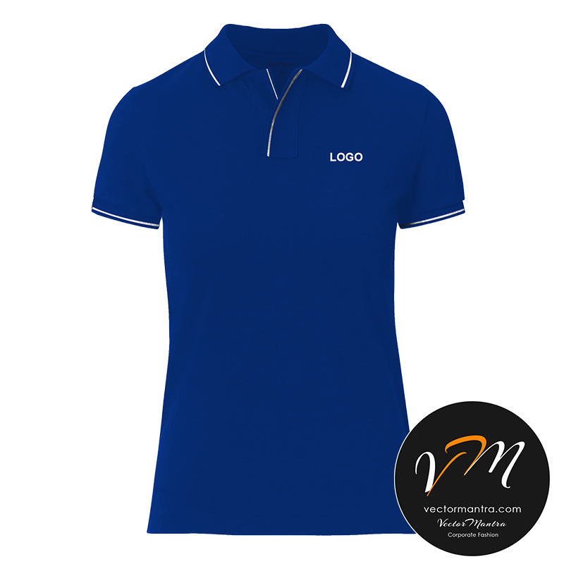Royal Blue t-shirt embroidery online