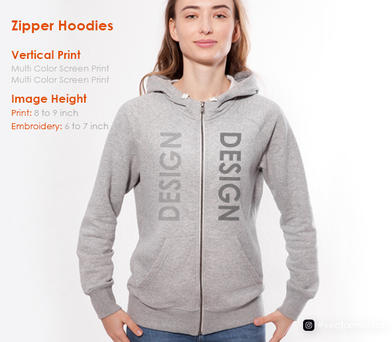 Embroidery and Screen Print on Zipper Hoodies   Vector Mantra   India