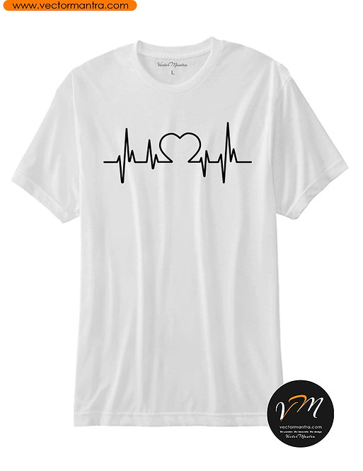 Custom Black and white couple T-shirts in India, Printed couple T-shirts for men and women, Custom Round Neck T-shirts Online