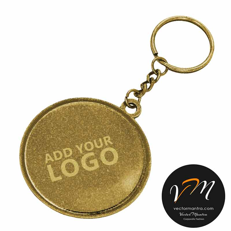 Customized engraved brass key chains