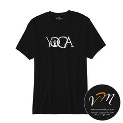 yoga t-shirt, cotton round neck tees