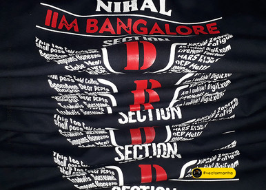 High Density Screen Printing with typography  on batch hoodies   Vector Mantra   India
