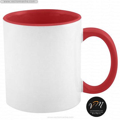 inside red color mugs online, inside color ceramic coffee mugs online, inside color ceramic printed coffee mug bangalore