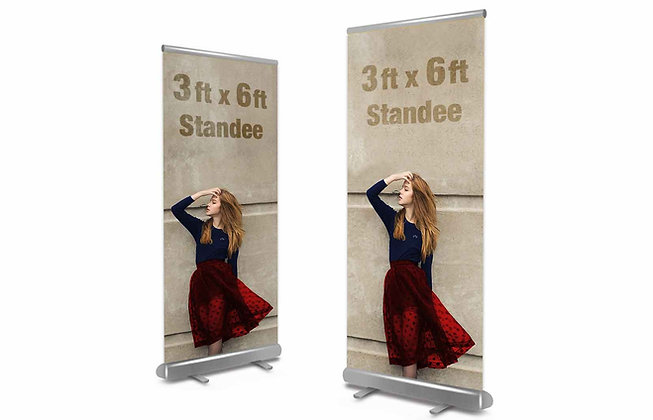 Roll Up Standee, Standee Manufacturer, Suppliers & Exporters, Corporate Standee for Events in Bangalore, Flex Printing Online