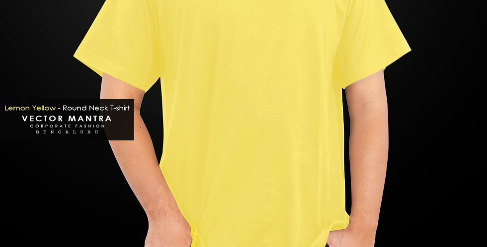 buy yellow cotton t shirts online in india, classic round neck t shirts online, premium t shirts for college, school t shirts