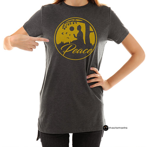 printing on t shirts, yoga t-shirt printing in bulk, peace t shirt print, custom yoga t shirt designs, yoga T-shirts online,