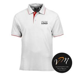 white cotton collared neck t-shirts