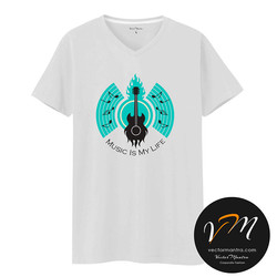 Music round neck t-shirts online