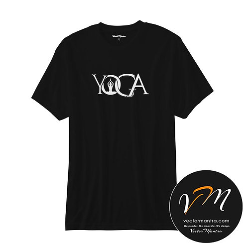 Round Neck Cotton T-shirts. Trendy, Casual Tee, yoga t shirt vectormantra.com- Bangalore, customized t shirt India, yoga tees