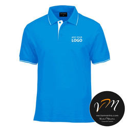 Blue polo T-shirts in India