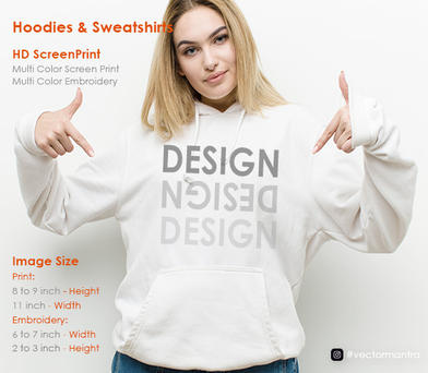 Embroidery and Screen Print on Pullovers   Vector Mantra   India