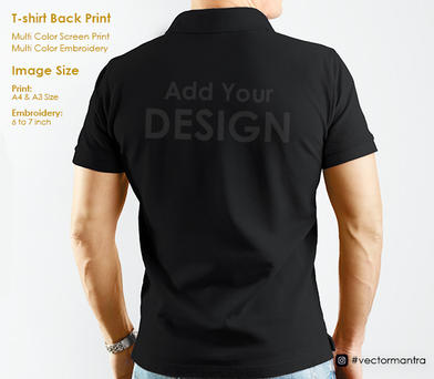 T-shirt Rear Embroidery and Screen Print   Vector Mantra   India