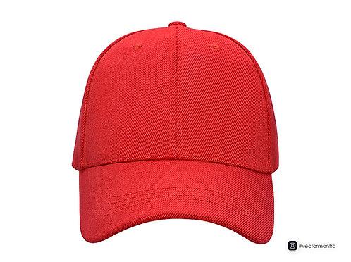 premium red color cotton baseball cap, custom cap manufacturer in bangalore, cotton baseball caps for sports, sports caps,