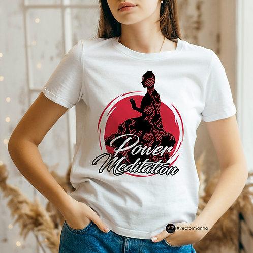 yoga t-shirt design, custom power yoga t shirts, power meditation workshop t shirts, yoga t shirts online, printing yoga tees